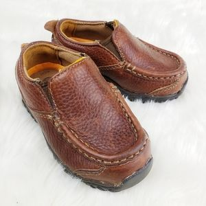 Timberland|Brown Slip on Leather Loafers Baby 5.5